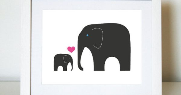 baby elephant print from jenim design on etsy