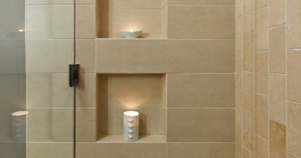 Shower Niches Coordinate Their Placement With The Tiling