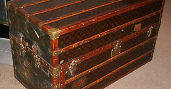 antique wardrobe trunk value 1