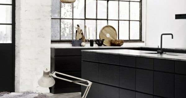 schwarze k che grifflose holz schr nke k chen pinterest k che grifflos schwarze k chen. Black Bedroom Furniture Sets. Home Design Ideas
