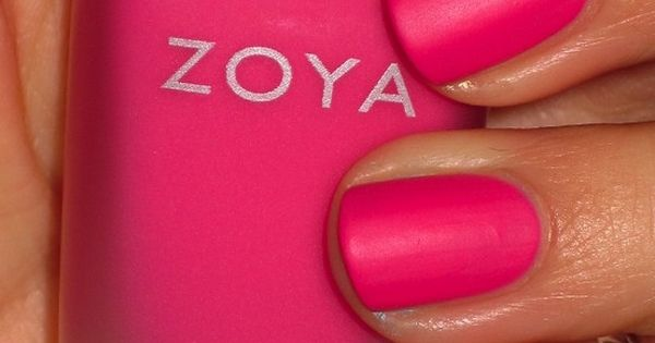 "Hot pink nails with a matte finish. Zoya - ""Lolly"" LOVE THIS!"