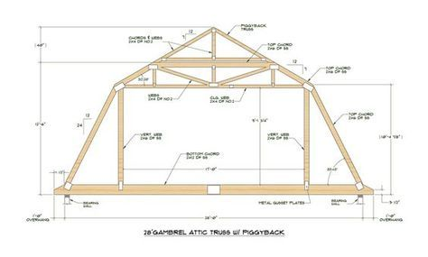 Pole Barn Gambrel Truss With A Gambrel Roof Is Compelling Versus The Standard 12 12 Pitch Roof Truss Design Attic Truss Mansard Roof