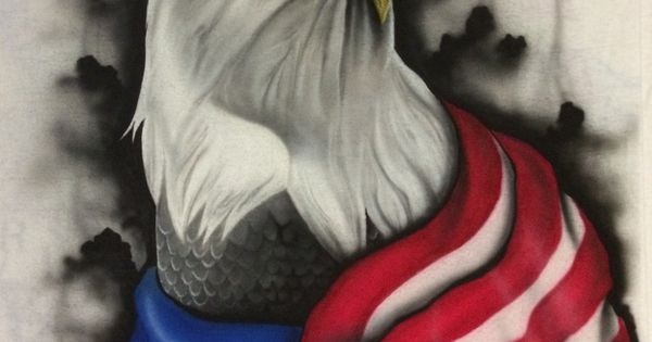Bald Eagle Airbrushed On A T Shirt Filair Designs Custom