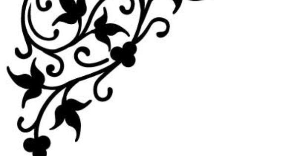 Naklejka Flora 192 Pnacza Kwiatow Szabloneria Pl Szablony Malarskie I Naklejki Na Sciane Producent Art Border Design Stencil Designs