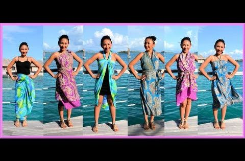 9 WAYS to WRAP a SARONG, PAREO, CONVERTIBLE DRESS! (Iris ...