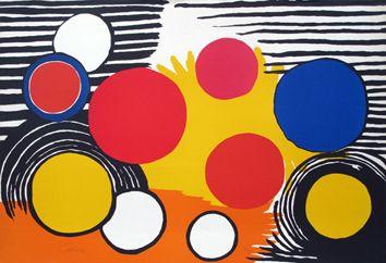 Original Signed Lithograph By Calder Alexander Alexander Calder
