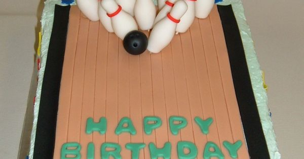 Custom Bowling Alley Cake With Fondant Detailing Happy