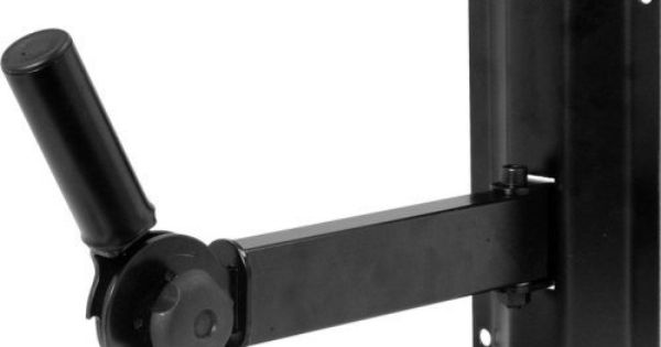 On Stage Ss7322b Adjustable Wall Mount Speaker Bracket By On Stage 68 99 Ideal For Sound Contractors Speaker Brackets Wall Mount Bracket