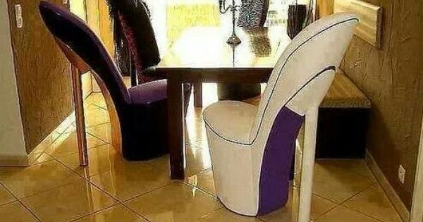 High Heel Shoes Chairs Cool Things Pinterest Single Apartment Purple Furniture And Room