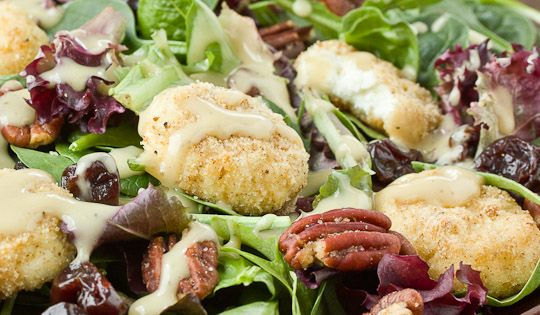 Baked Goat Cheese Salad with Creamy Walnut Vinaigrette Recipes from The Kitchn