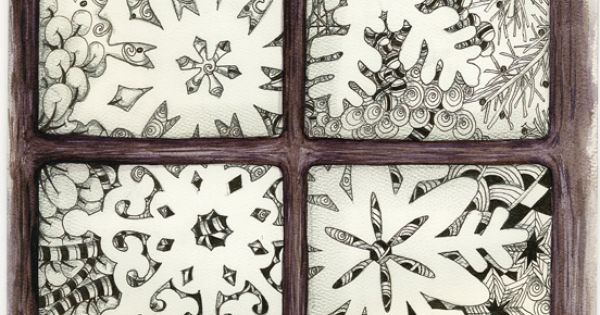 This Zentangle-inspired snowflake window is by my good friend and fellow Certified