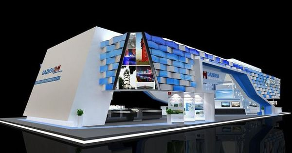 Exhibition Booth Obj : Exhibition area dmax d model