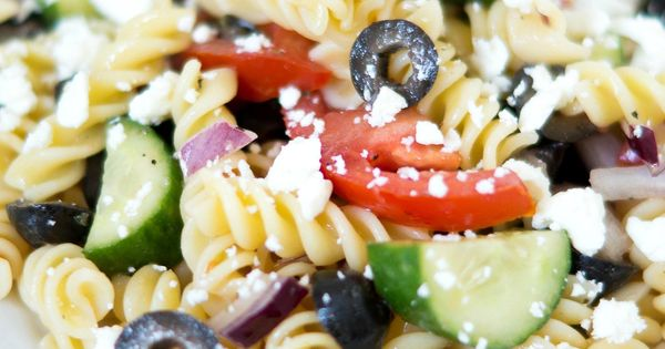 . This Greek pasta salad is a perfect make-ahead meal. You can toss ...