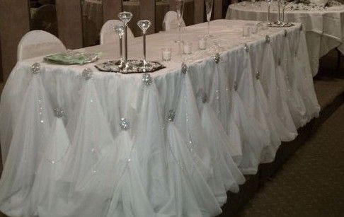 Diy Broach Gathered Table Skirt Awesome That Something So