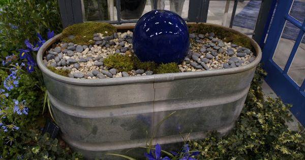 Galvanized Tub Water Feature Wash Bins Pinterest