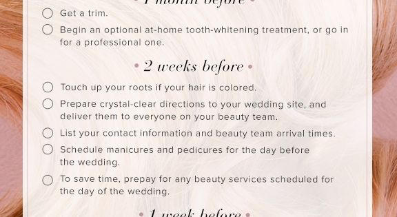 I love this awesome wedding beauty checklist for brides! Perfect for bride's