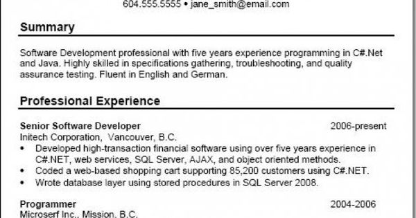 professional summary examples for resume throughout write that - web services testing resume