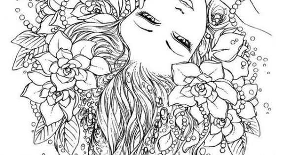Trippy Fairy abstract coloring pages for adults free to print Fantasy Coloring Pages