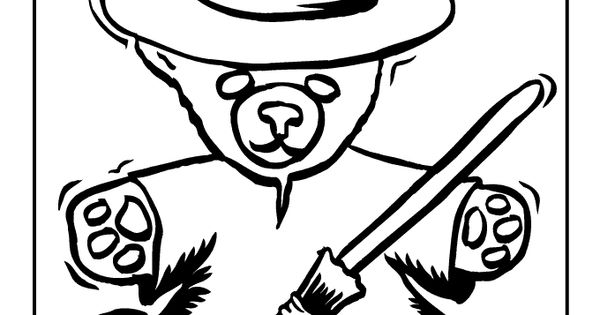 halloween teddy bear coloring pages | Halloween Teddy Bear Coloring Page | Halloween coloring ...