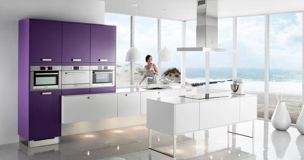 Design eclipse paars tulp keuken - Model keuken wit gelakt ...