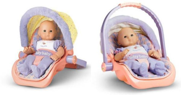 American Girl Bitty Baby Doll Travel Car Seat Carrier
