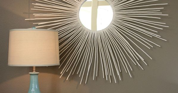 How to Make a Sunburst Mirror. Use twigs to make starburst mirror