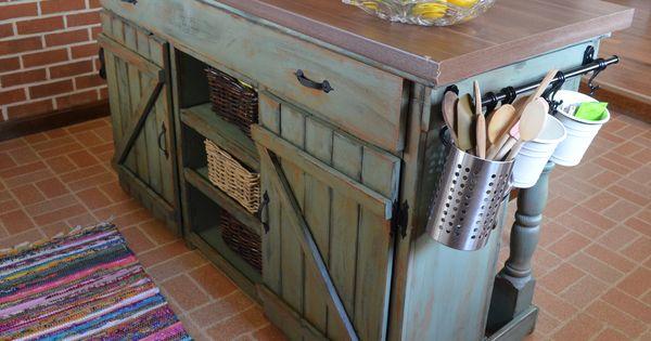 Farmhouse kitchen island do it yourself home projects for Do it yourself kitchen cabinets
