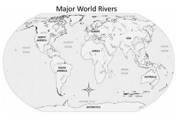 Major World Rivers Outline Map | Outline, Map, River
