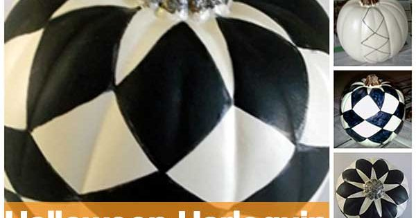 Diy halloween harlequin pumpkin tutorial by turquoizblue com