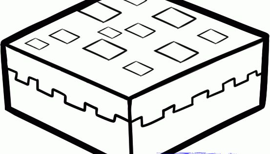 minecraft cake colouring pages  minecraft party