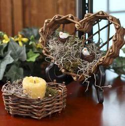 Natural Grapevine Heart Baskets Grape Vines Basket Basket