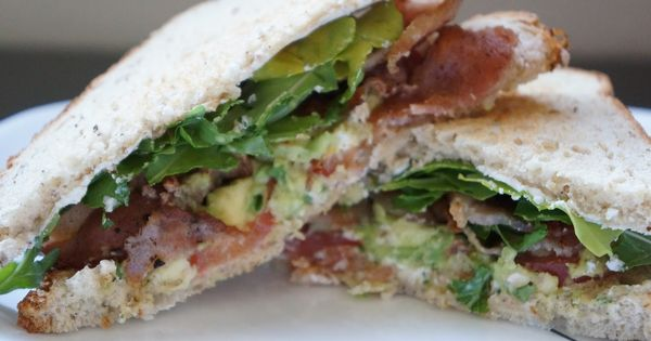 Grilled Cheese With Tomato, Avocado, Bacon, And Arugula Recipe ...