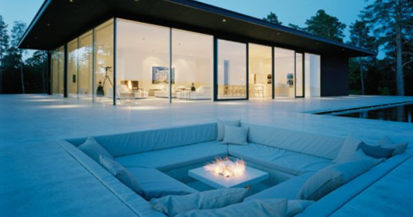 outdoor seating + firepit