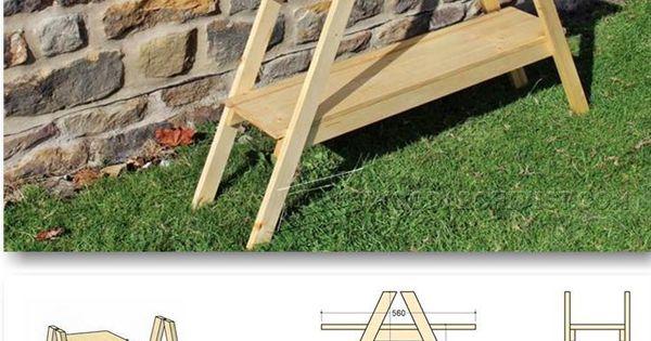 Escalera para exterior pallets pinterest escaleras for Bauhaus madera a medida