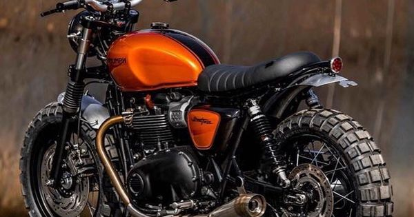 Burnt Orange Cafe Racer
