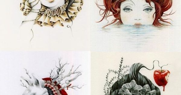 Sleeping Beauty, The Little Mermaid, Red Riding Hood & Snow White by