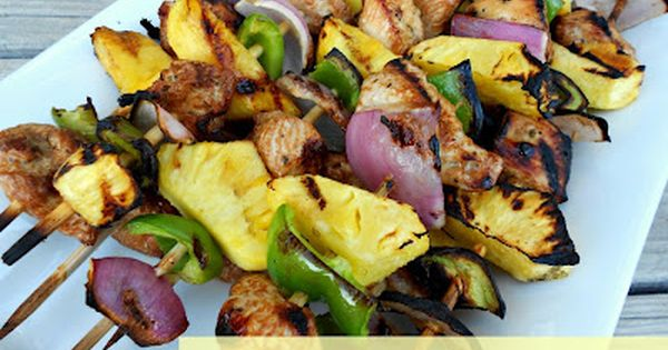 Grilled Island Chicken Kabobs / Six Sisters' Stuff | Six Sisters' Stuff