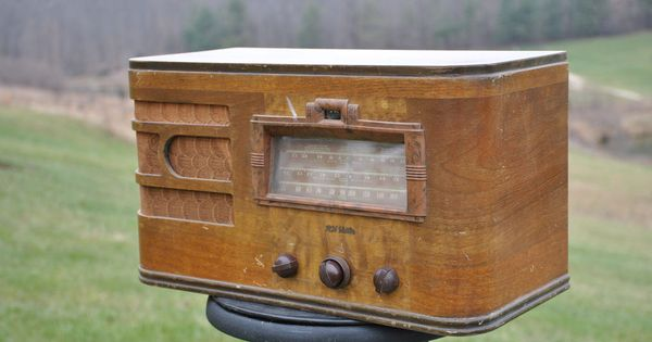 Antique 1939 Rca Victor 87t1 Tuning Eye Am Amp Shortwave