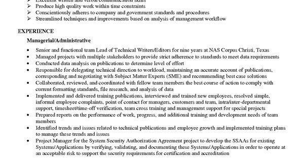 skill resume senior technical writer editor resumes package - sample technical writer resume