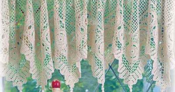 Curtains Ideas crochet curtain patterns valances : Dutch crochet curtains filet valance vintage | Filet crochet ...