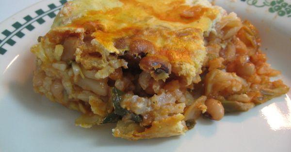 baked cabbage, rice & black-eyed pea casserole   food I ...