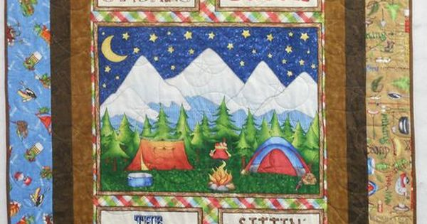 Camping Themed Quilts Fun Camping Themed Quilt That Is