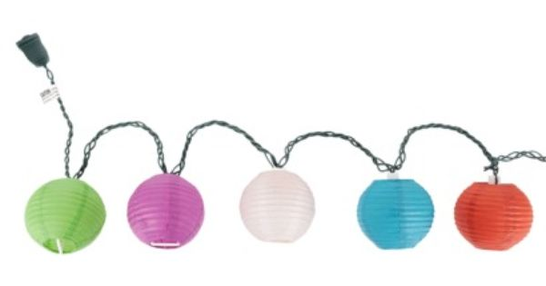 Room Essentials String Lights Ideas : Room Essentials Multi-Color Paper Lantern String Lights (3