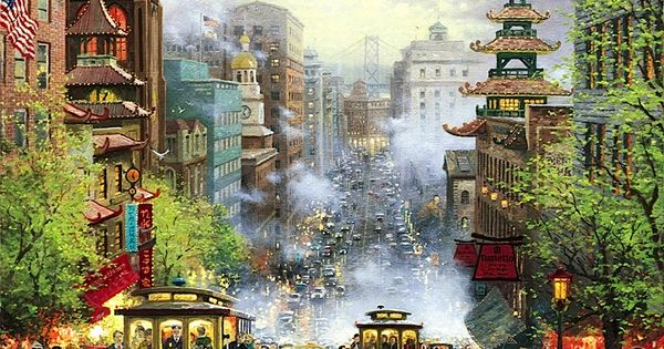 Thomas Kinkade San Francisco California Street The