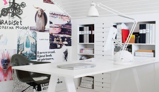 Illustration Studio interior styling white office