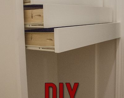 Step by step instructions to build DIY wooden drawers for installation in