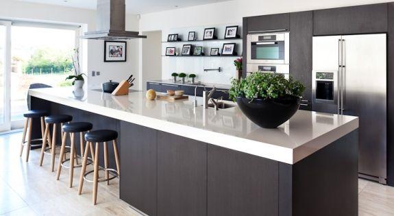 Architectuur, Zwart en wit and Keukens on Pinterest