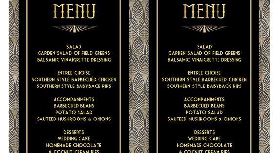printable menu card template
