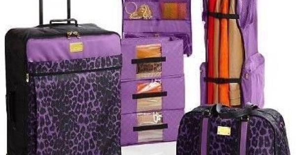 Samantha Brown Luggage Qvc: Joy Mangano Safari Chic Color Me Leopard Travel Ease 6p