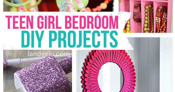Teen Girl Bedroom DIY Projects | Fun ideas for a teen room.